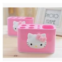 陆捌壹肆 新凯蒂猫HELLO KITTY 卡通牙刷座可爱牙膏架卫浴洗漱收纳盒置物盒(一个装)