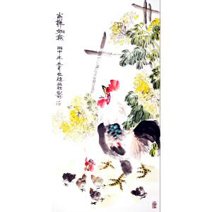 中国工笔画协会会员 夏仕海 《吉祥如意》