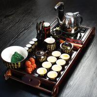 尚帝 陶瓷茶具套装 养神实木-陶瓷功夫茶具茶盘套装XMBH2014-039A1