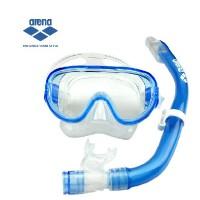 arena阿瑞娜 潜水面镜 呼吸管 浮潜训练两件套装 新品AGT-870