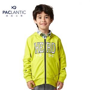 派克兰帝品牌童装 秋装秋装专柜同步男童玩转色彩时尚连帽衫
