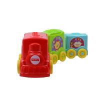 费雪叠叠乐 缤纷动物叠叠车婴儿早教益智玩具 婴儿玩具