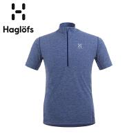 Haglofs火柴棍男款速干半拉链T恤603346(亚洲新版)