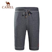 camel骆驼户外针织短裤 春夏男款休闲针织短裤