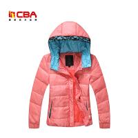 CBA女子羽绒服 冬季女款运动休闲白鸭绒时尚羽绒服保暖外套女
