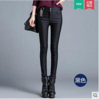 新款高腰铅笔裤紧身秋冬款女士pu裤子 皮裤女外穿小脚长裤