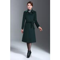 2017春新款呢子大衣外套妈妈装中老年长款加肥加大呢子大码女bj-F212-8609