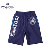 派克兰帝品牌童装 夏装男童时尚针织运动五分裤 男童夏季短裤