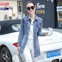 韩秀月儿2016新款韩版修身女装外套收腰显瘦BF风衣潮中长款牛仔外套女XYL865