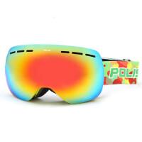 滑雪镜近视 双层防雾男女球面大视野户外登山滑雪眼镜