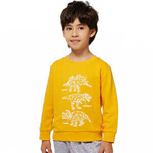 派克兰帝童装 男童恐龙印花图案套头卫衣