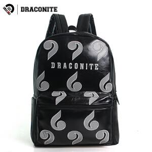DRACONITE潮流时尚休闲书包男女夏卡通几何绣花学生双肩背包11549