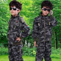 儿童迷彩服套装2014秋装新款男童装长袖外套男孩军装运动服中大童