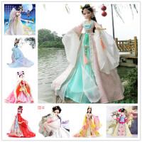 可儿娃娃 木兰红妆 唐朝新娘 古代新娘衣服 儿童关节体 洋娃娃女孩玩具礼物套装 芭比娃娃