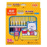 真彩24色油画棒 韩国 儿童无毒蜡笔套装 酷丫油画棒 2966A-24