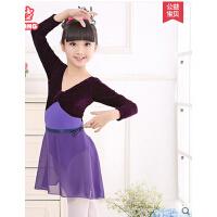 女童练功服体操连体少儿拉丁芭蕾舞裙考级服 儿童舞蹈服春秋季长袖