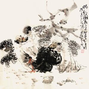 《畅饮图》实力派职业人物画家莫丹作品