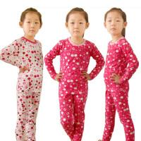 芭比内衣童装儿童内衣纯棉莱卡 女宝宝内衣套装秋衣睡衣9200