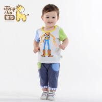 童泰新款儿童夏装套装1-2岁男宝宝休闲半袖上衣短裤两件套运动装