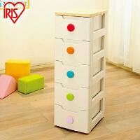 爱丽思IRIS环保树脂塑料彩扣抽屉式宝宝衣柜整理柜子收纳柜HG-325