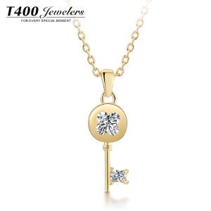 T400银饰项链女锁骨链简约日韩国时尚百搭学生吊坠钥匙配饰品颈链  12186