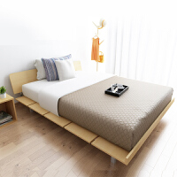 择木宜居 双人床 单人床 大床木床板式床 榻榻米床 浅橡色
