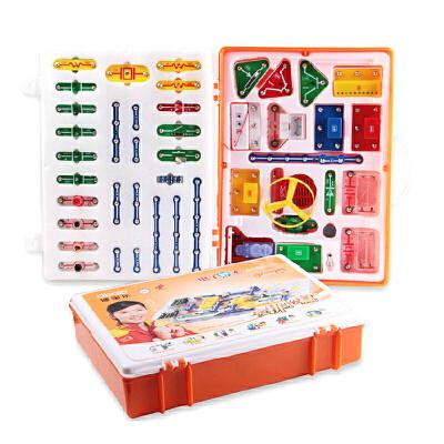 正品迪宝乐电子积木3198拼黄金版拼电子百拼电路玩具儿童益智拼图