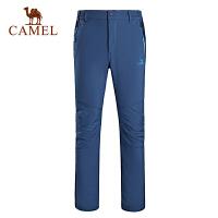 camel骆驼户外软壳裤 男款防风保暖耐磨软壳长裤