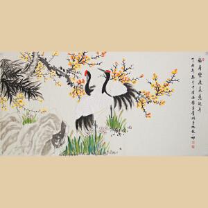 《福寿乐康美意延年》张一娜-中国女工笔画协会委员,书画家协会一级美术师