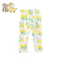 童泰 宝宝婴儿衣服女童打底裤1-3周岁儿童裤子春夏外出薄款长裤
