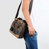单肩包斜挎包手提包帆布包男士商务包女包男女通用款休闲包