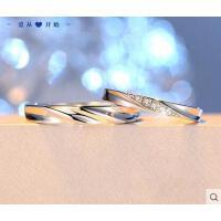 戒指 首饰 配饰 活口情侣戒指男女一对日韩版S925银饰品开口对戒学生简约指环刻字
