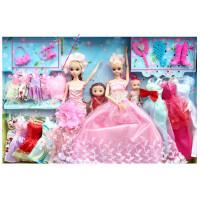 芭芘娃娃衣服换套装大礼盒婚纱公主 衣橱新年春节女孩 玩具