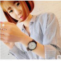 情侣手表  女学生韩版时尚潮 流复古简约男表女表真皮带