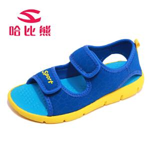 哈比熊童鞋男童凉鞋2017夏季款儿童鞋子中大童凉鞋韩版儿童沙滩鞋AU3320