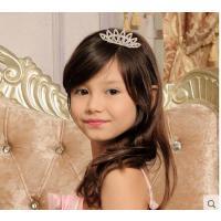 韩国时尚气质优雅女童头饰水钻皇冠插梳坚固精致舒适儿童舞蹈表演出皇冠发饰