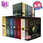 冰与火之歌全集 英文原版小说 权力的游戏 赠送地图 英文版 英文原版书  A Song of Ice and Fire正版全套1-5(7本)套装A Game of Thrones