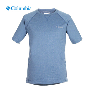 【领卷满400减100】Columbia哥伦比亚男士户外速干排汗透气圆领短袖T恤AE1564