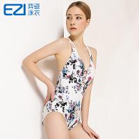 2016弈姿EZI温泉新款中国风 性感露背显瘦 女连体三角游泳衣1381