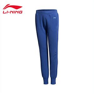 李宁训练系列女装罗纹收口运动卫裤AKLK016