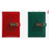 卡杰创意密码本带锁复古记事本子文具笔记本圣诞本子