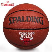 斯伯丁篮球NBA队徽系列 火箭/湖人/ 公牛/热火/魔术 PU耐磨7号标准篮球