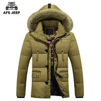 战地吉普/AFS JEEP冬季韩版大码羽绒服