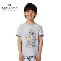 派克兰帝品牌童装  夏装男童时尚图案短袖T恤 儿童短T