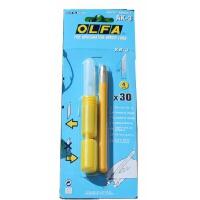 小黄爱利华AK-3 橡皮章工具雕刻笔刀+30刀片橡皮砖 OLFA爱利华 AK-3 笔刀 雕刻刀/美工刀 模型刀