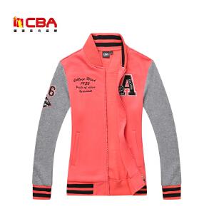 CBA女子运动卫衣时尚拼接运动服 吸汗舒适开衫运动外套