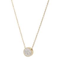 Arts & Crafts/A&C PURE STEEL系列时尚金色圆形仿水晶女士项链 支持礼品卡支付