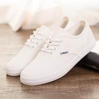 厚底薄底任选白色女士帆布鞋底平跟休闲百搭小白鞋系带学生韩版