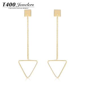 T400个性长款耳钉女气质韩国简约甜美几何三角耳环首饰品空恋缘  2718