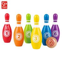 德国Hape E8348彩虹儿童保龄球儿童早教启蒙玩具